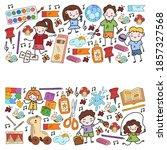 kindergarten and toys. little...   Shutterstock .eps vector #1857327568