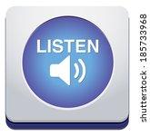 listen icon   Shutterstock . vector #185733968