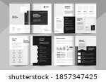 8 pages business brochure... | Shutterstock .eps vector #1857347425