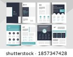8 pages multipurpose brochure... | Shutterstock .eps vector #1857347428