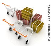 trolley for luggage at the... | Shutterstock . vector #185734952