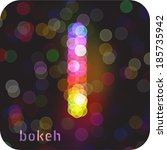 bokeh effect by the capital... | Shutterstock .eps vector #185735942