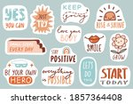motivational patches collection.... | Shutterstock .eps vector #1857364408