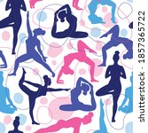 Trend Seamless Pattern Of Yoga...