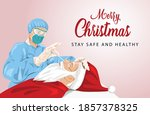 merry christmas greetings.... | Shutterstock .eps vector #1857378325