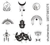 celestial mystical symbols and...   Shutterstock .eps vector #1857385375
