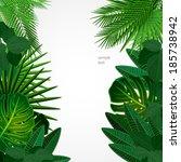 tropical leaves. floral design... | Shutterstock .eps vector #185738942