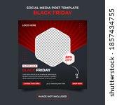 black friday banner sale social ...   Shutterstock .eps vector #1857434755