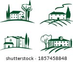 farm set of icon in vector.... | Shutterstock .eps vector #1857458848