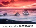 An Iceberg Along The Shore Of...