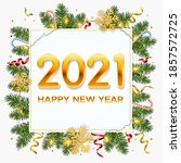 new year 2021 background with... | Shutterstock .eps vector #1857572725