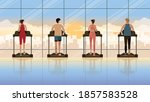 back view group of person... | Shutterstock .eps vector #1857583528