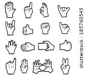 vector hands collection | Shutterstock .eps vector #185760545