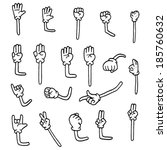 cartoon arms | Shutterstock .eps vector #185760632