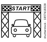 start line rally car icon in... | Shutterstock .eps vector #1857618328