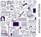 business doodles set. school...   Shutterstock .eps vector #185762666