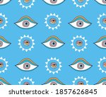 vector seamless pattern with... | Shutterstock .eps vector #1857626845