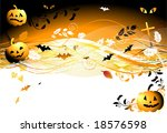 halloween night background | Shutterstock .eps vector #18576598