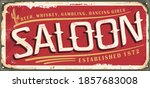 Vintage Saloon Sign Template...