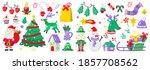 christmas label vector logo for ... | Shutterstock .eps vector #1857708562