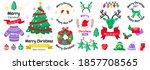 christmas label vector logo for ... | Shutterstock .eps vector #1857708565