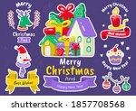 christmas label vector logo for ... | Shutterstock .eps vector #1857708568