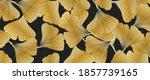 golden ginkgo leaves botanical...   Shutterstock .eps vector #1857739165