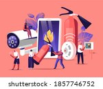 fire safety system concept.... | Shutterstock .eps vector #1857746752