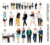service queue. bank business... | Shutterstock . vector #1857760465