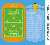 vector soccer field editable... | Shutterstock .eps vector #185777858