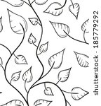 seamless pattern of the leaves... | Shutterstock .eps vector #185779292