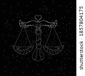 libra zodiac sign white symbol... | Shutterstock .eps vector #1857804175