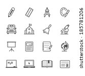 education icons | Shutterstock .eps vector #185781206