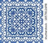 antique portuguese azulejo...   Shutterstock .eps vector #1857812698