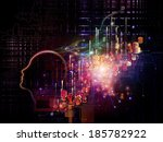 interplay of human profile ... | Shutterstock . vector #185782922