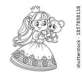 cute blond princess playing...   Shutterstock .eps vector #1857858118