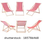 Beach Chairs Isolated White Background - Fine Art prints