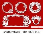 set of christmas frames.... | Shutterstock .eps vector #1857873118