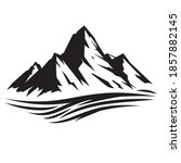 silhouette mountains and...   Shutterstock .eps vector #1857882145