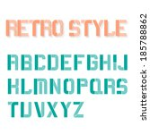 retro font vector eps10 | Shutterstock .eps vector #185788862