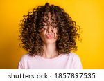 Headshot Of Girl With Curly...