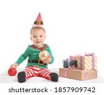Cute Little Baby In Christmas...