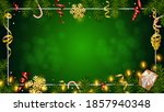 christmas green background with ... | Shutterstock .eps vector #1857940348