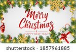 christmas background with... | Shutterstock .eps vector #1857961885
