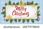 christmas background with... | Shutterstock .eps vector #1857974845