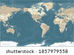 world map   vintage political   ... | Shutterstock .eps vector #1857979558
