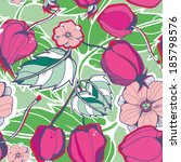 vector seamless pattern with... | Shutterstock .eps vector #185798576