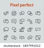 simple set of message line... | Shutterstock .eps vector #1857991012
