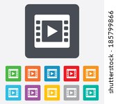 video sign icon. video frame... | Shutterstock .eps vector #185799866