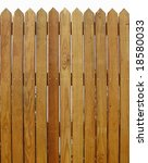 wood fence    with slats that... | Shutterstock . vector #18580033